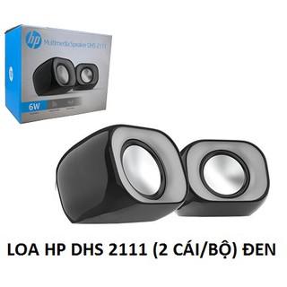 [Mã ELFLASH5 giảm 20K đơn 50K] Loa cặp mini sử dụng cho máy tính laptop HP DHS 2111 bộ 2 cái màu đen