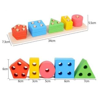 Bộ 5 hình học Montessori