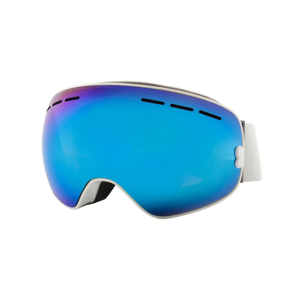 anti fog windproof ski goggles blue color