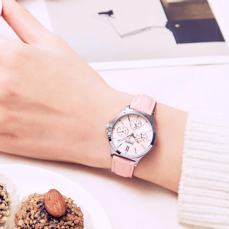 Đồng hồ CASIO LTP-V300L-4A nữ dây da chính hãng