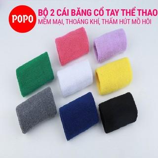 Băng cổ tay thể thao hiện đại cho nam(nữ) POPO (bộ 2 cái) thoáng khí thấm mồ hôi, mềm mại, bảo vệ cổ tay thumbnail