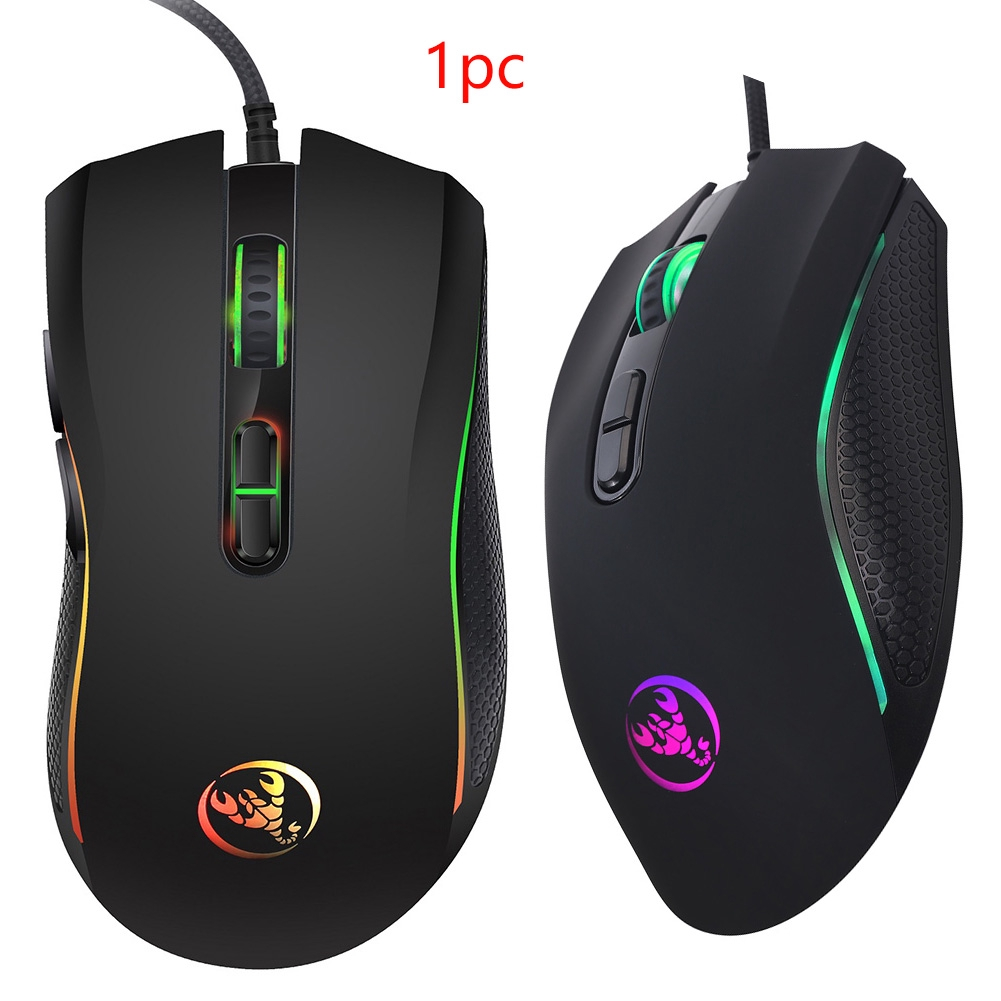 A869 7 Colors Mouse Computer Accessories Buttons Game Glowing USB Led Optical Wired
