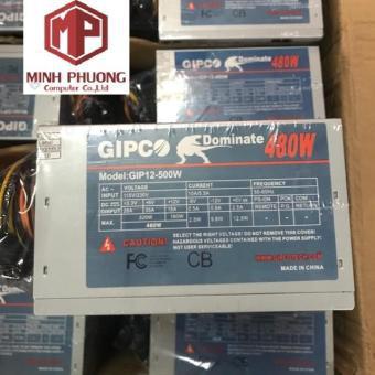 Nguồn Máy Tính Gipco 480w Fan 12 Kèm Dây Nguồn Giá chỉ 190.000₫