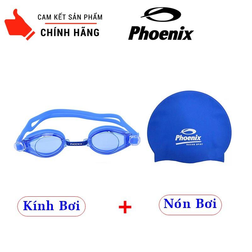 COMBO Kính Bơi + Nón Bơi Phoenix Chuẩn Chất Lượng Bơi Lội - Dùng được cho Người Lớn và Trẻ Nhỏ
