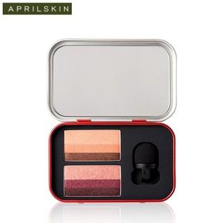 Bảng Phấn Mắt April Skin Perfect Magic Dual Eyeshadow Pure & Chic 6g thumbnail