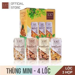 Thùng MINI 4 Lốc Sữa Hạt 137 Degrees Thái Lan – 12 Hộp 180ml