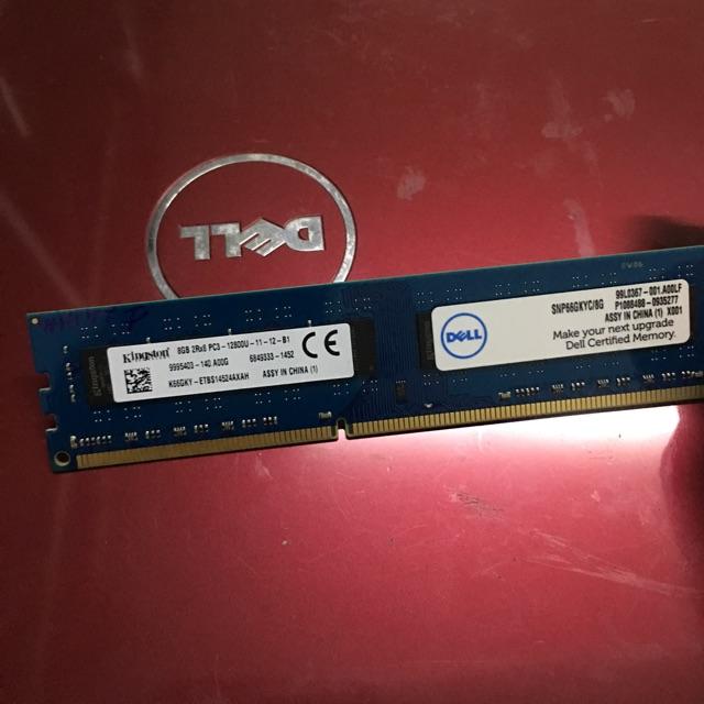 Ram PC3 8G-1600 kingston tháo máy bộ dell, bh 1 đổi 1