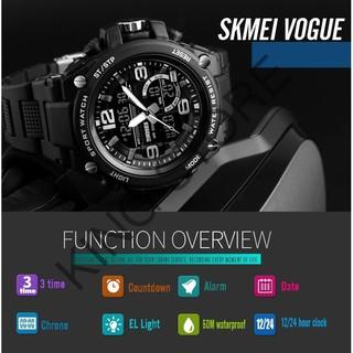 Đồng hồ thể thao SKMEI DH32 nam tính mạnh mẽ chống nước chống sốc, kim điện tử đa chức năng -KING STORE