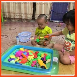 [ Có Sẵn ] Bể phao câu cá cho trẻ em