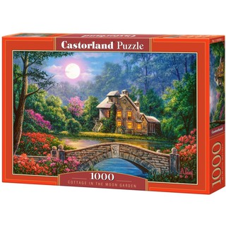 Xếp hình puzzle Cottage in the Moon Garden 1000 mảnh Castorland