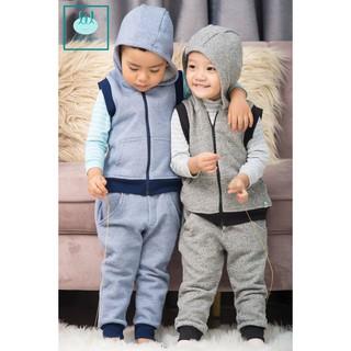 [Mã KIDMALL12 hoàn 15% xu đơn 150K] Bộ quần áo nỉ gilê cho trẻ 0-3 tuổi little love thumbnail