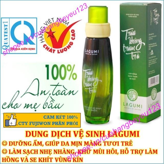 Dung dịch vệ sinh phụ nữ Lagumi Trầu Không Tràm Trà 100% thiên nhiên 100ml - an toàn Mẹ Bầu - Việt Nam