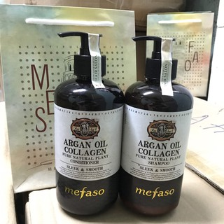 Bộ Dầu, Xả Argan Oil Collagen Mefaso Phục Hồi Tóc Hư Tổn - 500ml thumbnail