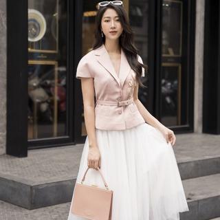 Áo vest be ngắn tay đính hoa Elise FW2008229TUWOBE thumbnail