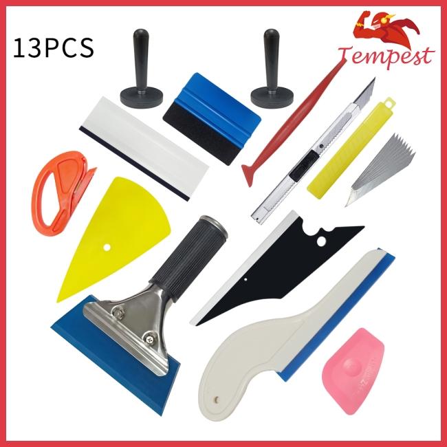 13pcs/setCar Vinyl Tool Set Carbon Fiber Tool Set Window Magnet Holder
