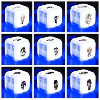 Đồng hồ báo thức để bàn in hình Identity V anime chibi LED đổi màu