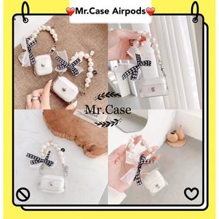 Case Airpod 1/2 Pro Vỏ Trong Kèm Dây Nơ Tiểu Thư