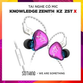 Tai Nghe Có Dây Có Mic Knowledge Zenith KZ ZST X 1BA + 1DD - Hàng Chính Hãng thumbnail
