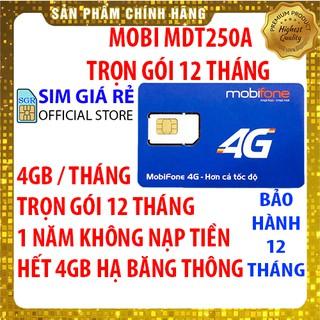 Sim 4G Mobifone trọn gói 1 năm không nạp tiền MDT250A và MDT135A/F250
