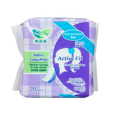 Băng vệ sinh Laurier hàng ngày Active Fit siêu thấm không hương 20 miếng