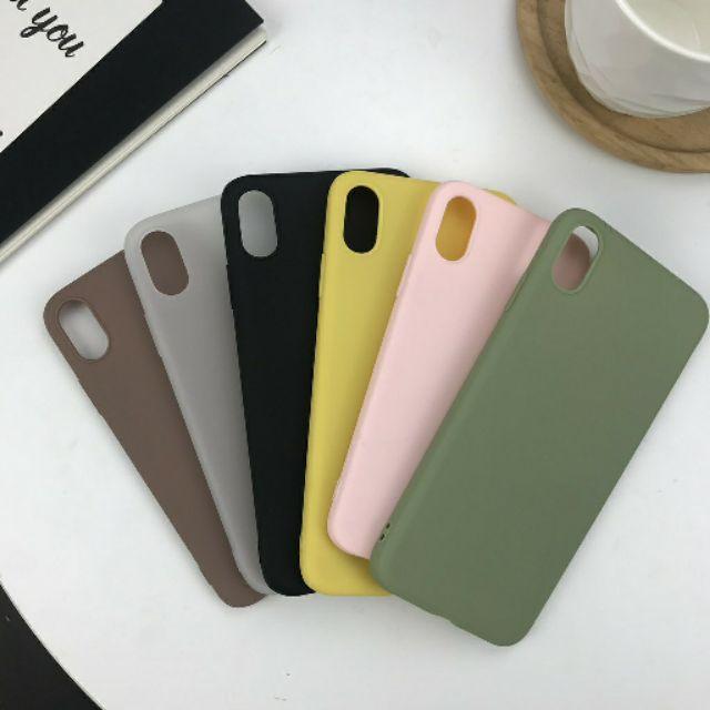 Ốp lưng iphone trơn đủ màu silicon