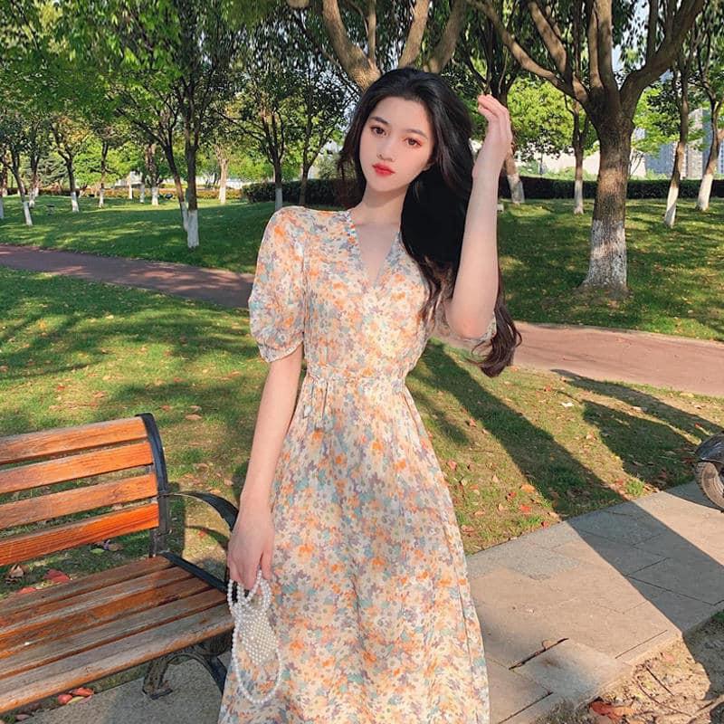 Đầm hoa kiểuD3