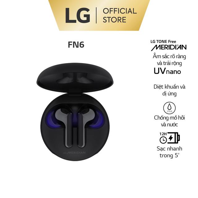 LG Tone Free HBS-FN6 – Tai Nghe Không Dây, Tính năng diệt khuẩn UV