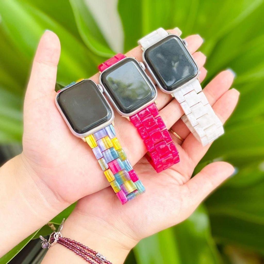 [Mẫu HOT nhất] Dây đeo đồng hồ Apple Watch mẫu giả đá 2020