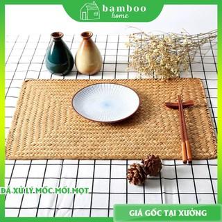 Lót bàn ăn THE BAMBOO chất liệu mây tre đan cói mộc mạc tự nhiên thân thiện môi trường