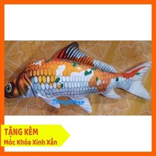Cá Chép 3D Nhồi Bông Cao Cấp Đáng Yêu – 60 cm