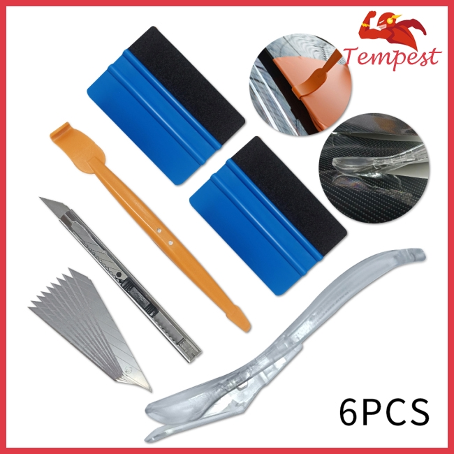6pcs/set Car Wrap Magnet Vinyl Tool Set Car Sticker Wrap Carbon Fiber Film Cutter Auto Accessories