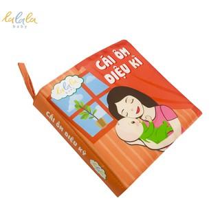 Sách vải Lalala baby đa tương tác Cái ôm diệu kì, kích thước 18 18cm, 12 trang