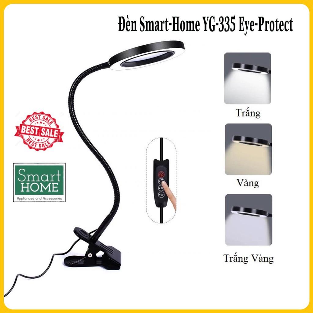 Đèn LED đế kẹp 3 màu ánh sáng - Đọc sách, Học tập, Làm việc - Thân vỏ bọc INOX cực bền - YG-335 TRÒN