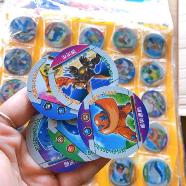 Sét 4 túi thẻ pkemon nhựa(1 túi 6 cai)
