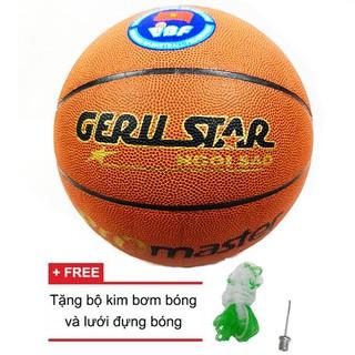 Quả bóng rổ Gerustar Pro Master tặng bộ kim bơm bóng và lưới đựng bóng Số 7 Greennetworks thumbnail
