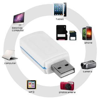 USB 4 trong 1 đọc các loại thẻ nhớ cho thẻ TF T-Flash M2