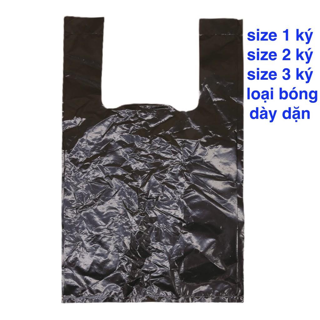500 gram bọc nilon đựng rác và gói hàng màu đen có quai xách size 1 ký 2 ký 3 ký