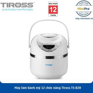 Máy làm bánh mỳ 12 chức năng Tiross TS-820 - Hàng Chính Hãng