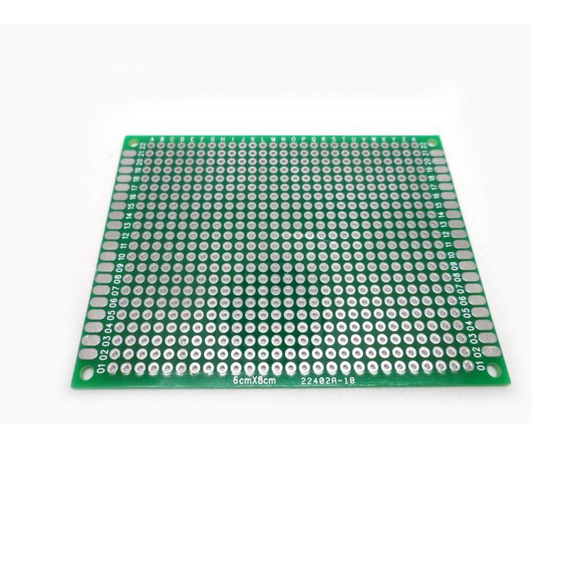 1pc 6x8 cm เดี่ยวสเปรย์ดีบุก 1 . 6 หนา 2 . 54 ช่วงคณะกรรมการสากลวงจร pcb