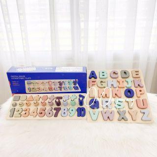 Bộ bảng gỗ chữ và số- phát triển tư duy cho bé