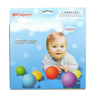 6pcs/Set Baby Educational Grasping Ball Infants Hand Catch Massage Sensory Ball