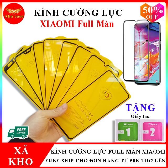 Cường Lực Xiaomi note 7, 7 pro, note 5, 5pro, note 8, 8pro, mi 8 lite, mi 9, mi 9t, mi 9s,  redmi 7, redmi 8