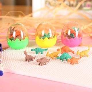 Mini Cartoon Dinosaur Egg Children Pencil Eraser Stationery Toy Gift Color Style