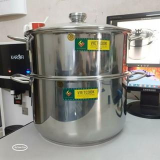 Bộ xửng hấp inox size 24,26,28,30,32 ,1 đáy nắp kính và nắp inox ,hàng dày giá rẻ,kết hợp ,đun nấu ,hấp bánh,đồ xôi