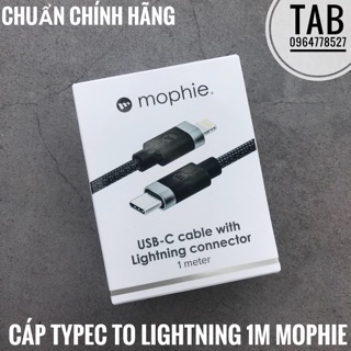 [Mã ELMSBC giảm 8% đơn 300K] Cáp Mophie TypeC To Lightning 1m - Chính Hãng