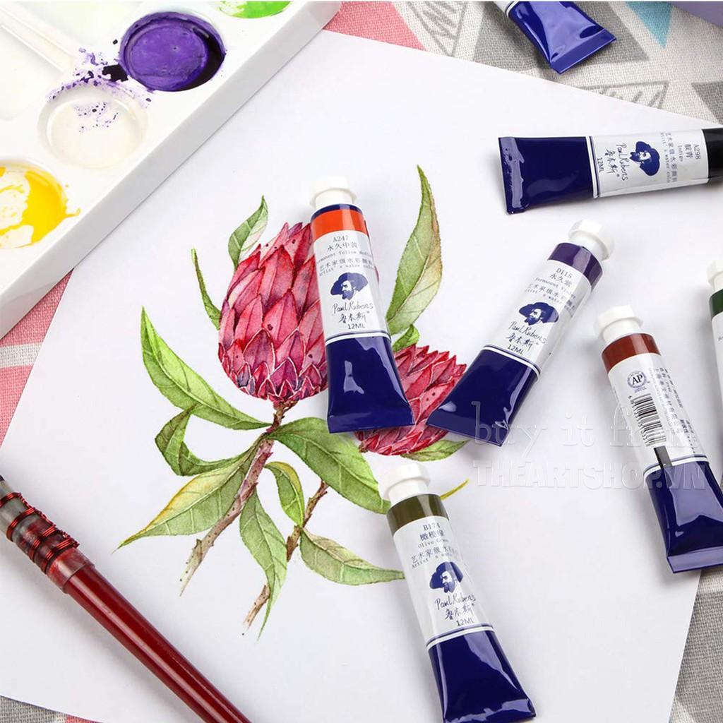 Bộ màu nước PAUL RUBENS dạng tuýp - PAUL RUBENS Watercolor Tube 12ml-Set  24/48   Shopee Việt Nam