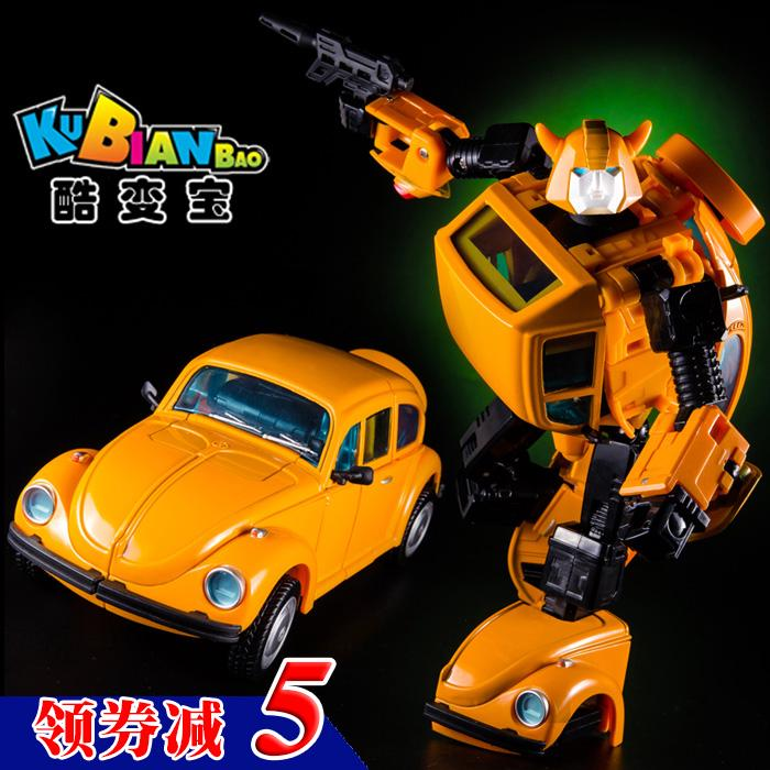♛Cool variable Bao alloy version bumblebee KBB beetle MP21 deformed toy King Kong Golden worm Car Man model