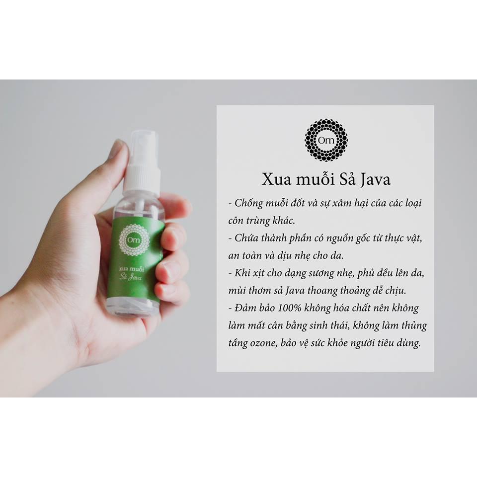 Xịt Xua Muỗi 🔶 FREESHIP 🔶 Xua Côn Trùng - Tinh Dầu Sả Java (Citronella) 50mL