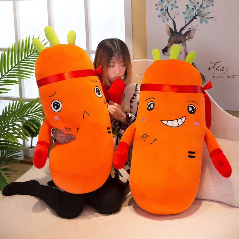 Gối nhồi bông hình củ cà rốt đáng yêu