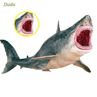 Dudu Sea Life Megalodon Model Action Figure PVC Ocean Animal Educational Learning Toy For Kid Gift